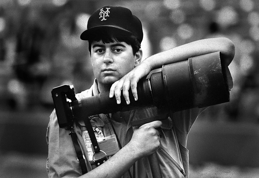 Brad Mangin started shooting for his archive back in 1987 at Candlestick Park in San Francisco. (Photo by Gerry Mooney)