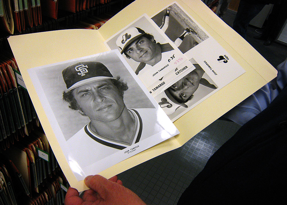 One of my all-time favorite Giants, John Tamargo, has a print file in the photo archive at. (Photo by Brad Mangin)