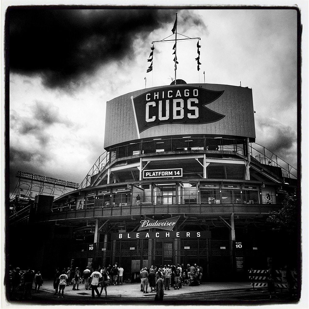 Wrigley field for the players tribune mangin photography archive iphone instagram of fans waiting in line for bleacher seats before the game between the san francisco giants and chicago cubs at wrigley field on august 8 buycottarizona Images