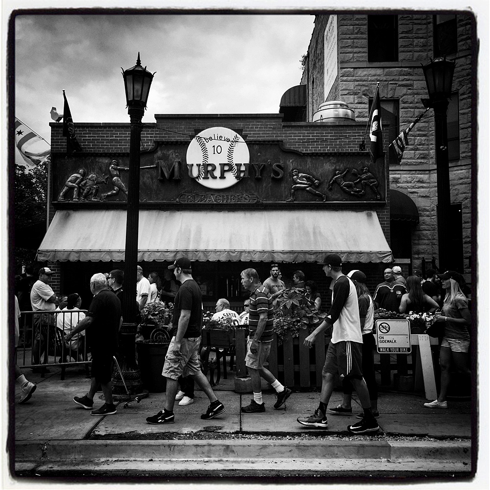 Wrigley field for the players tribune mangin photography archive iphone instragram of the pregame activities at murphys bleachers before the game between the san francisco giants and chicago cubs at wrigley field on buycottarizona Images